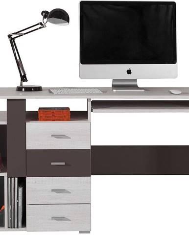 Písací stôl Next Nx-13 borovica biela/earth