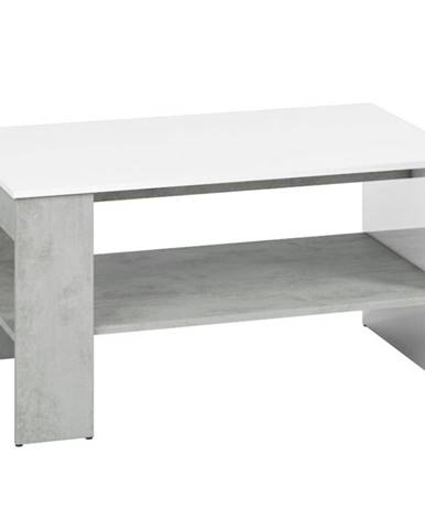 Konferenčný stolík Lumens 10 biely lesk/betón