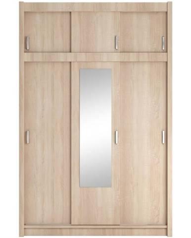 Skriňa Nela so zrkadlom 150 dub sonoma
