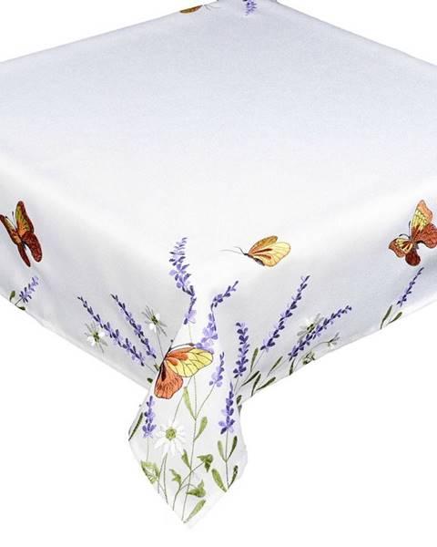 Topvet Forbyt Obrus Motýle a levanduľa, 85 x 85 cm