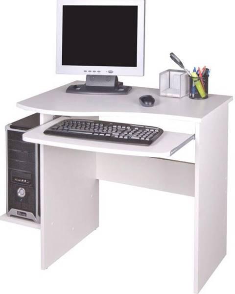 Kondela PC stôl biela MELICHAR