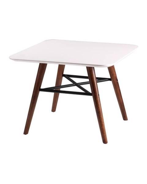 sømcasa Biely odkladací stolík s tmavohnedým podnožím sømcasa Andy