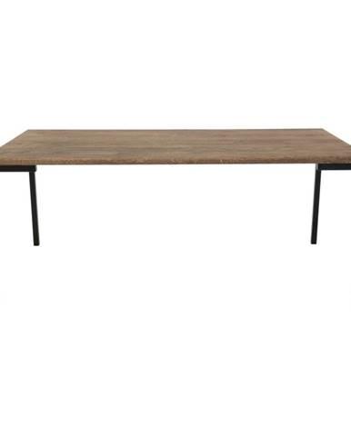 Čierny konferenčný stolík s tmavou doskou z dubového dreva HoNordic Lugano
