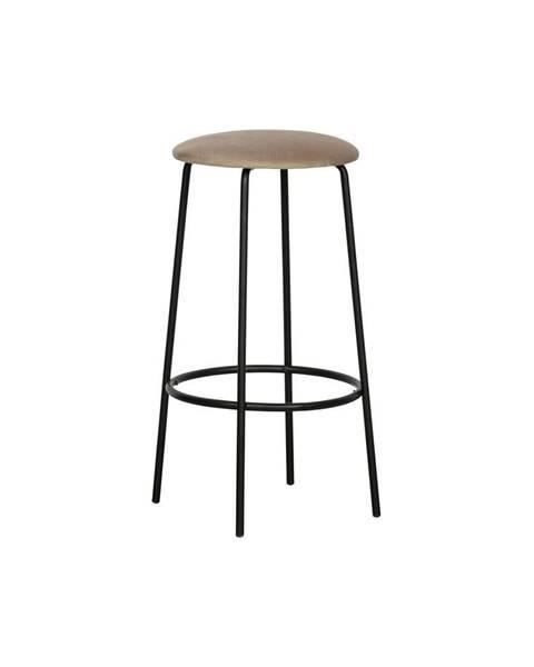 WOOOD Sivá barová stolička WOOOD Mina