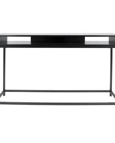 Čierny konzolový stolík Leitmotiv Fushion