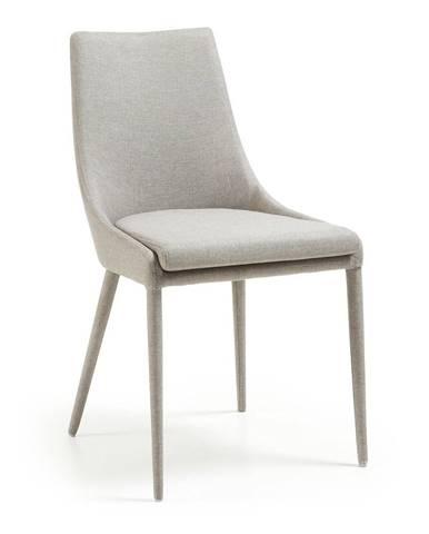 Sivá jedálenská stolička La Forma Fabric