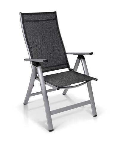 Blumfeldt London, záhradná stolička, textilén, hliník, 6 pozícií, skladacia