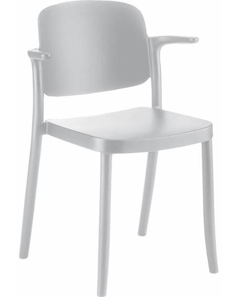 Möbelix Plastová Stolička S Podrúčkami Plaza Biela