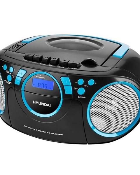 Hyundai Rádiomagnetofón s CD Hyundai TRC 788 Aubbl čierny/modr