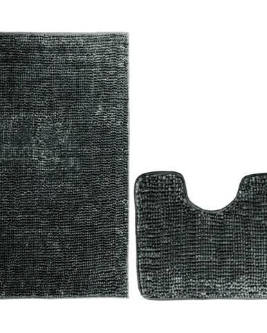 AmeliaHome Sada kúpeľňových predložiek Bati čierna, 2 ks 50 x 80 cm, 40 x 50 cm
