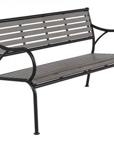 Gaya záhradná lavička čierna