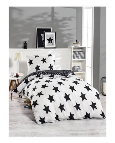 Obliečky s prímesou bavlny na jednolôžko Bigstar Black, 140 x 220 cm