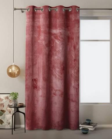 Červený záves so zamatovým povrchom AmeliaHome Velvet, 140 x 245 cm