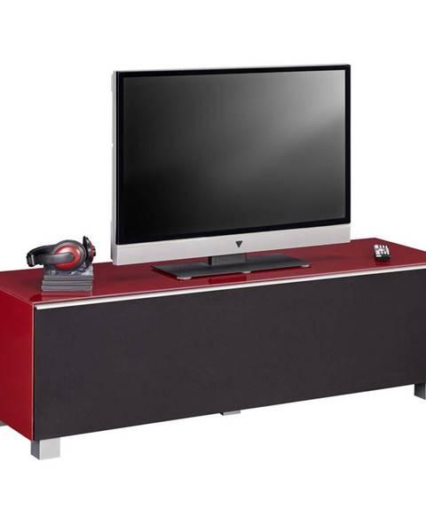 Carryhome TV DIEL, červená, čierna, 140/43/42 cm - červená, čierna