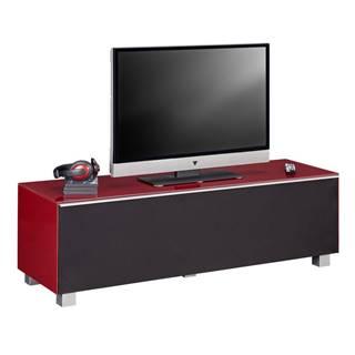 TV DIEL, červená, čierna, 140/43/42 cm - červená, čierna