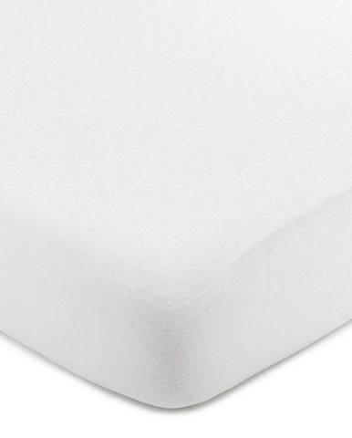 4Home jersey prestieradlo biela, 100 x 200 cm