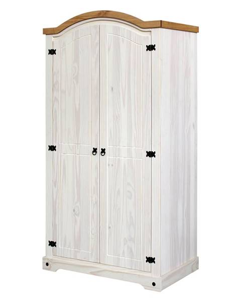 IDEA Nábytok Skriňa 2-dverová CORONA biely vosk