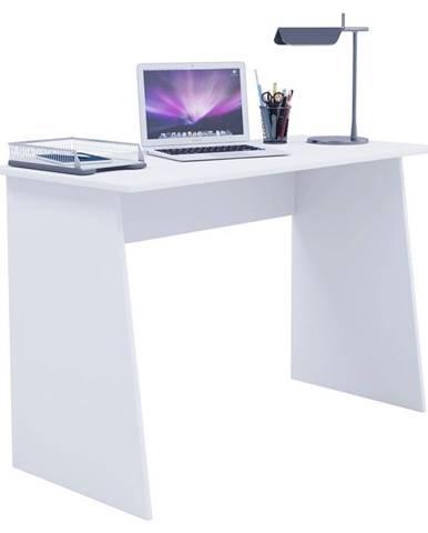 Písací Stôl V Bielej Farbe Masola Maxi 110 Cm Biely