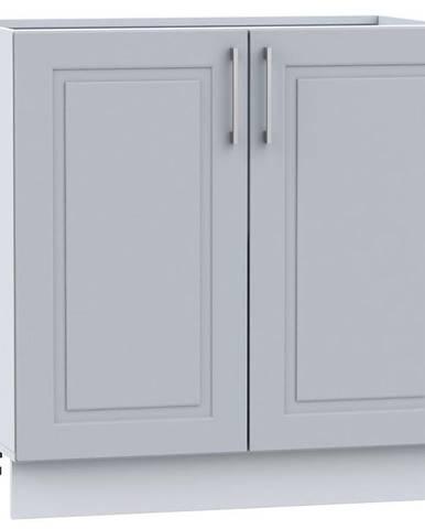 Kuchynská skrinka Natalia D80ZL sivá mat