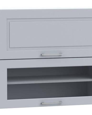 Kuchynská skrinka Natalia WS80 GRF/2 SD sivá mat