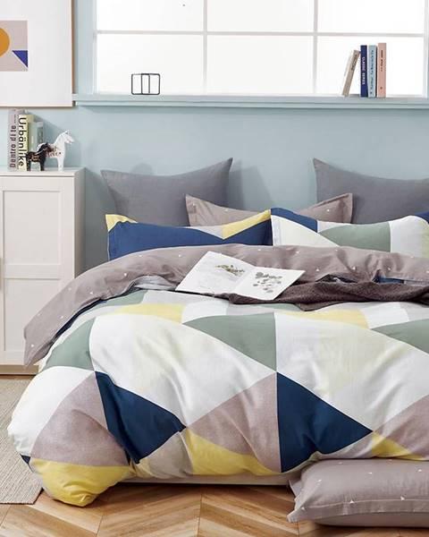 MERKURY MARKET Bavlnená saténová posteľná bielizeň ALBS-01233B 160X200