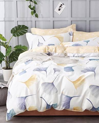 Bavlnená saténová posteľná bielizeň ALBS-01037B 160X200