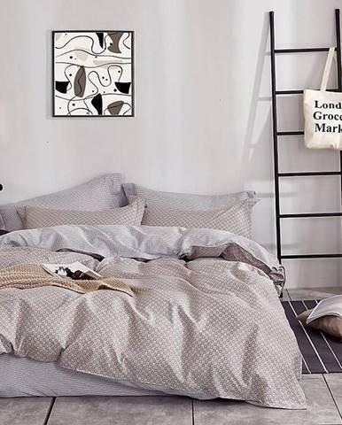 Bavlnená saténová posteľná bielizeň ALBS-0929B 160X200