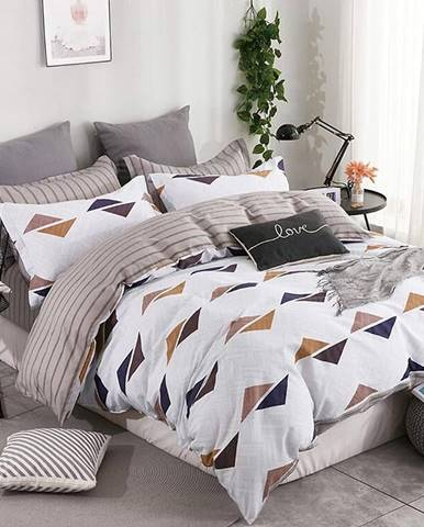 Bavlnená saténová posteľná bielizeň ALBS-0932B 200X220