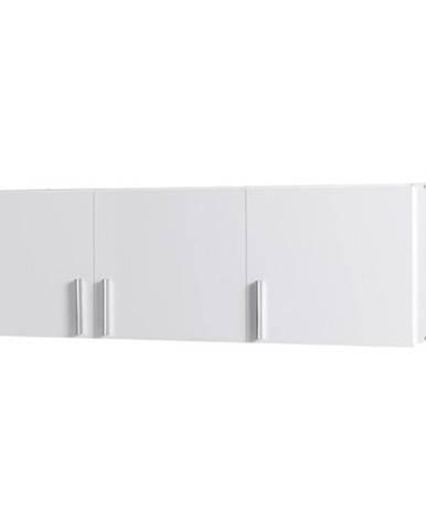 Nadstavec na skriňu Snow 04a 136 cm  lesklá/biela alpská