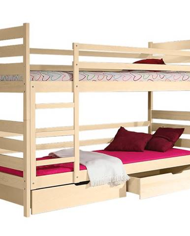 Poschodová posteľ Darek 190x80 prírodná borovica