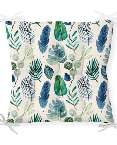 Sedák na stoličku Minimalist Cushion Covers Navy Flower, 40 x 40 cm