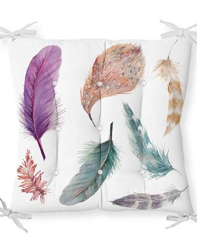 Sedák s prímesou bavlny Minimalist Cushion Covers Feathers, 40 x 40 cm