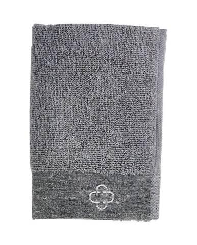 Sivý uterák s prímesou ľanu Zone Inu, 60 x 40 cm