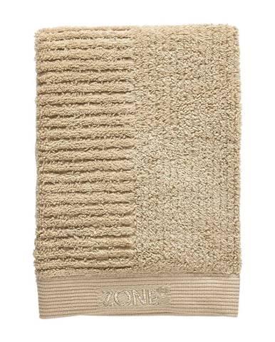 Tmavobéžový bavlnený uterák Zone Classic, 70 x 50 cm