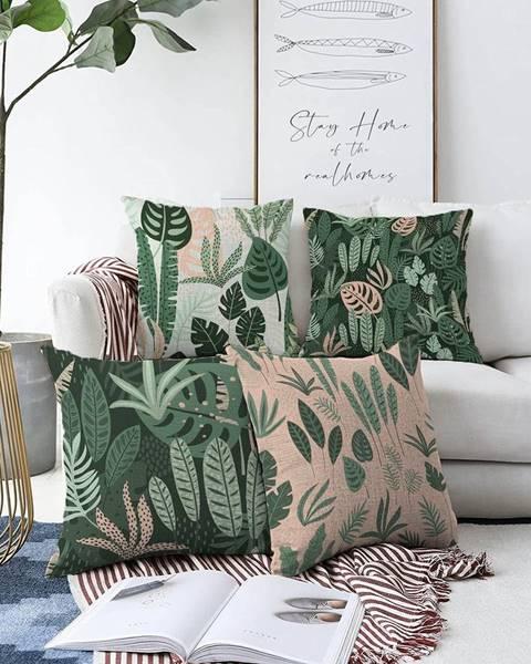 Minimalist Cushion Covers Súprava 4 obliečok na vankúše Minimalist Cushion Covers In the Jungle, 55 x 55 cm