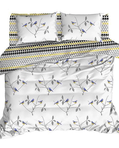 Mijolnir Obliečky s plachtou na dvojlôžko z ranforce bavlny Mijolnir Pavlina White, 160 × 220 cm