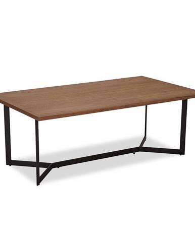 Hnedý konferenčný stolík v dekore orechového dreva FurnhoTokyo, 140 x 80 cm