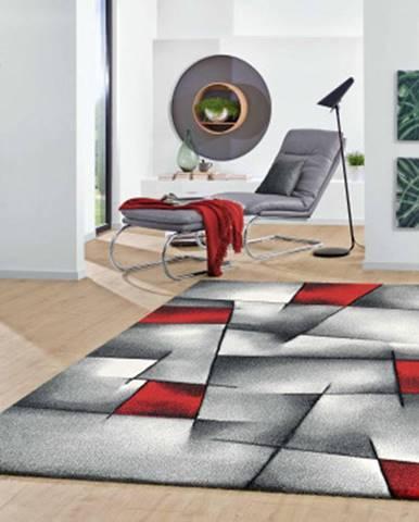 Koberec Brilliance 160x230 cm, šedo-červený%