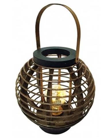 LED lampáš drevená, výška 37 cm%