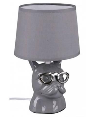 Stolná lampa Dosy, šedá%