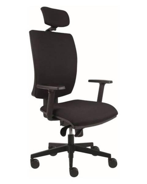 Sconto Kancelárska stolička LAUREN čierna