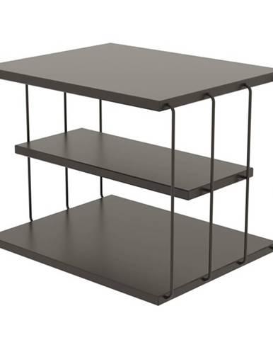 Prístavný stolík TLOS LIFON antracit/čierna