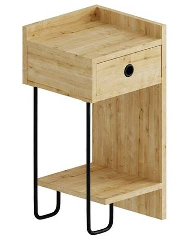 Nočný stolík CACTUS dub, ľavé vyhotovenie