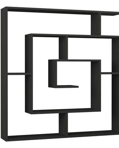 Regál/knižnica MAZE antracitová