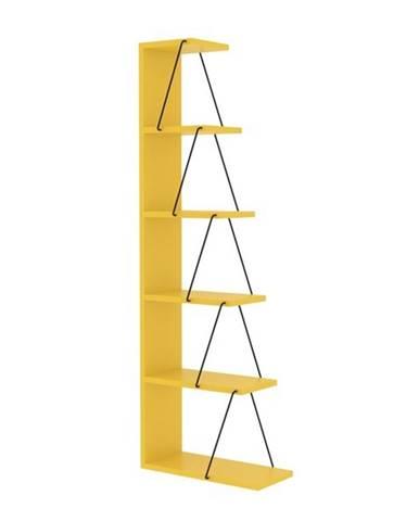 Regál/knižnica TLOS žltá/čierna
