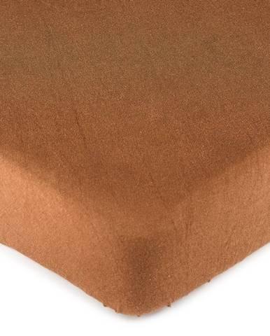 4Home jersey prestieradlo hnedá, 180 x 200 cm