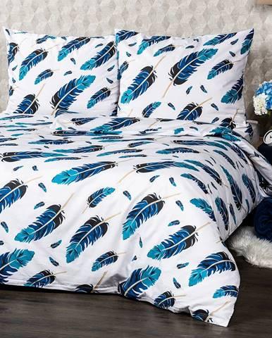 4Home Bavlnené obliečky Feathers, 220 x 200 cm, 2 ks 70 x 90 cm