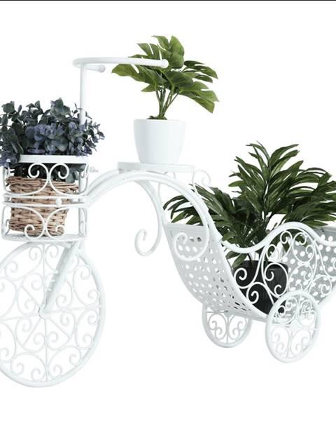Kondela RETRO kvetináč v tvare bicykla biela ALENTO