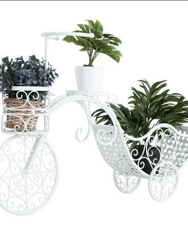 RETRO kvetináč v tvare bicykla biela ALENTO