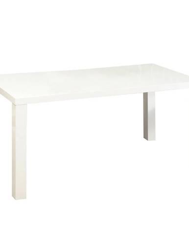 Jedálenský stôl biela vysoký lesk HG ASPER TYP 2 poškodený tovar